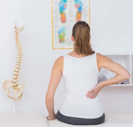 woman in chiropractor's office